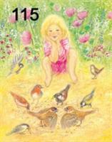 Tyttö ja linnut kortti