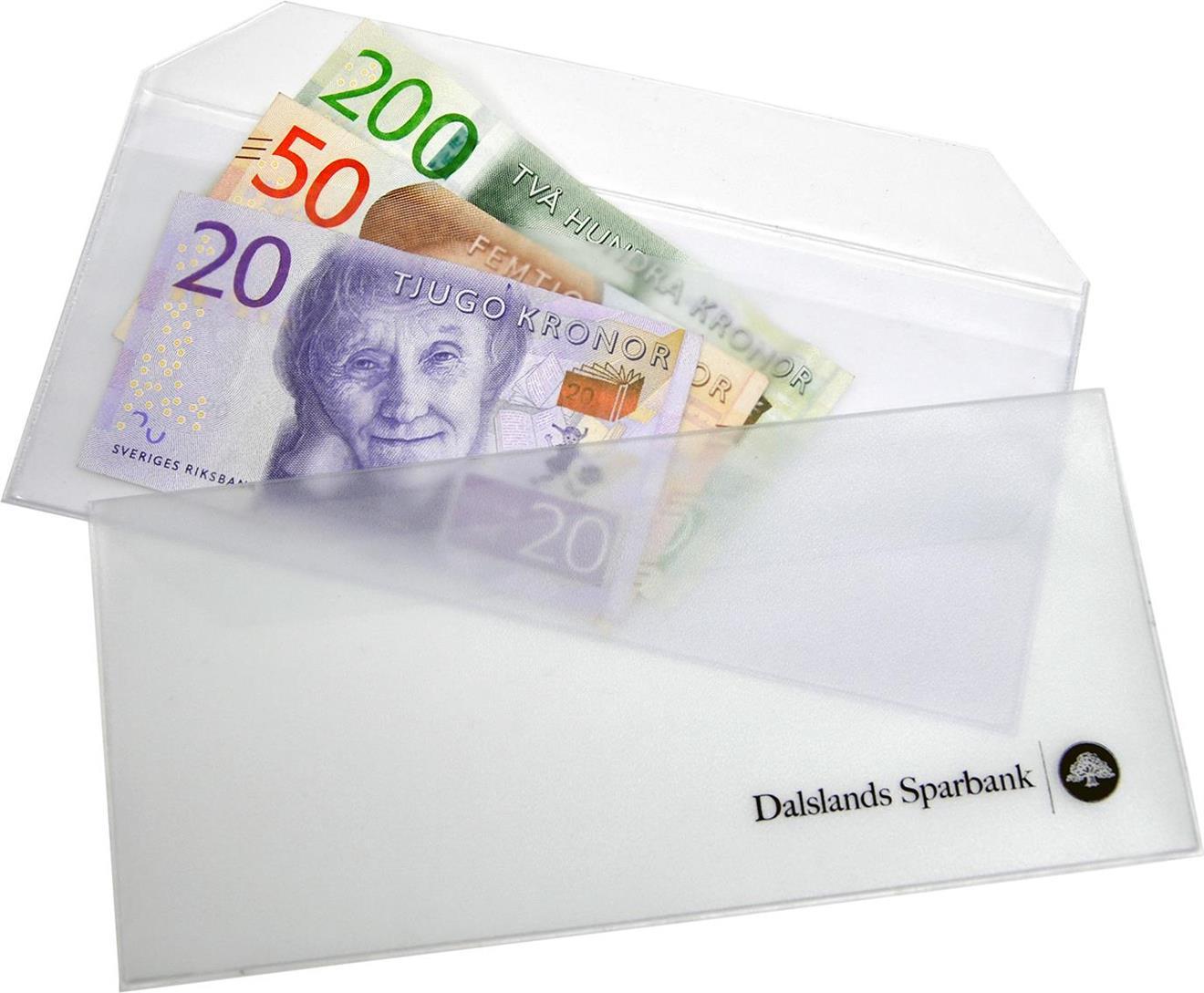 Valutafodral transparent plast