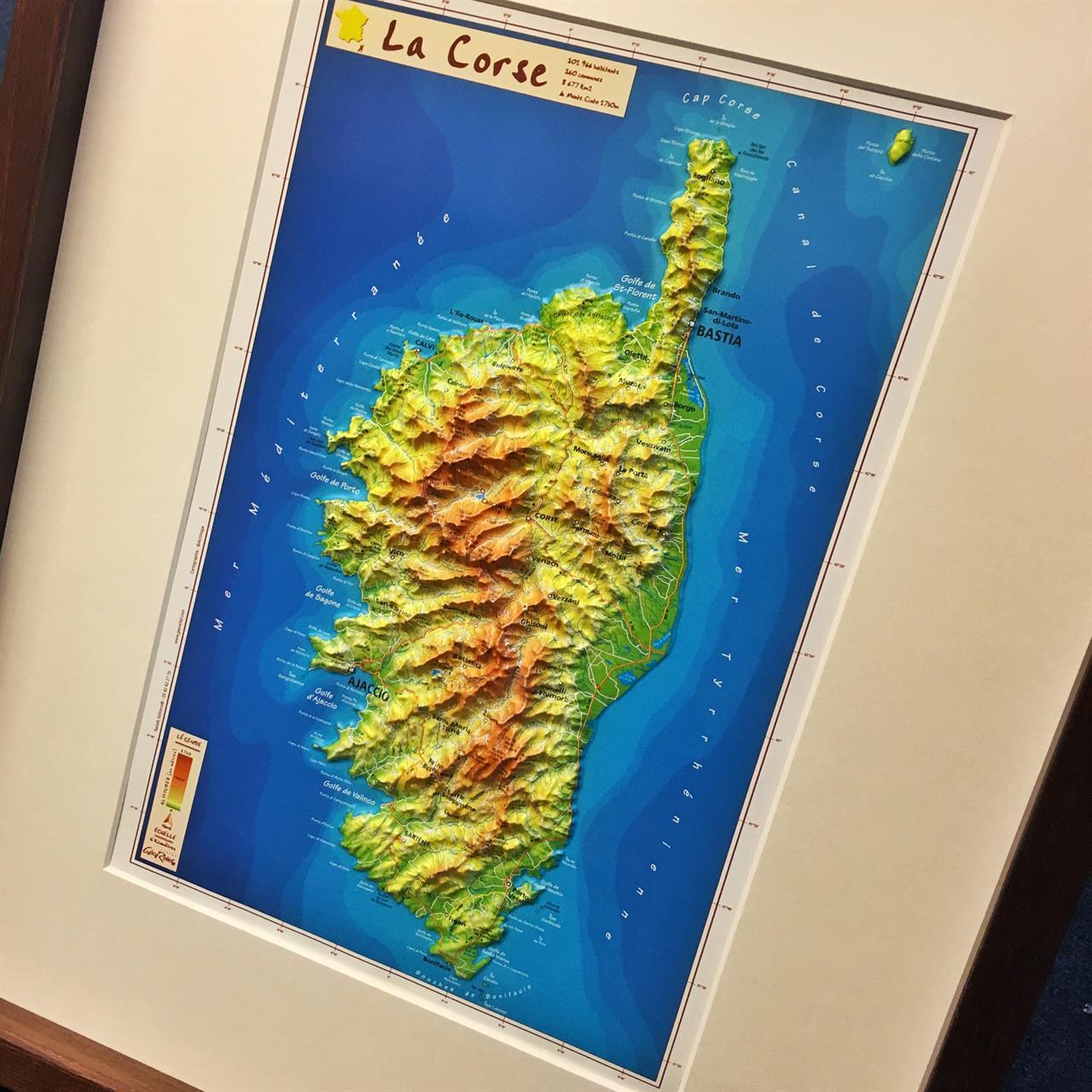 3D-kart over Korsika.