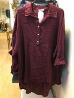 Frackskjorta i linne Dandy Rubin one size+