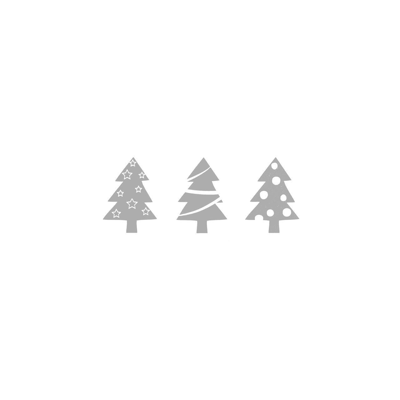 1210131,tre juletre, grå