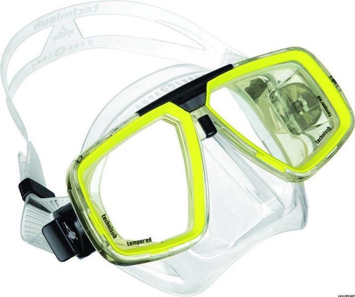 Maske LOOK Hot Lime Klar silicon
