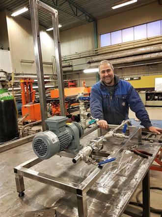 Rostfria Stativ för pumpar och maskiner