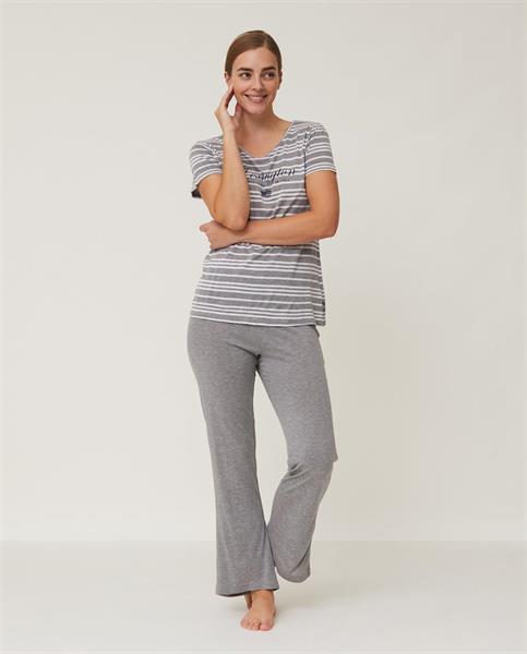Lexington Women's Jersey Bamboo Pajama Set, Gray