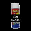 Skriftspray Sort 9005