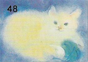 Leikkivä kissa-kortti