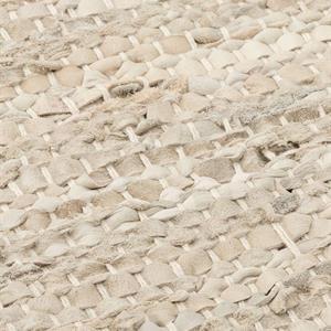 Rug Solid Nahkamatto, Beige 75 x 200 cm