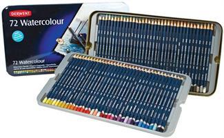 Derwent Watercolour puuvärikynät 72-värin lajitelma