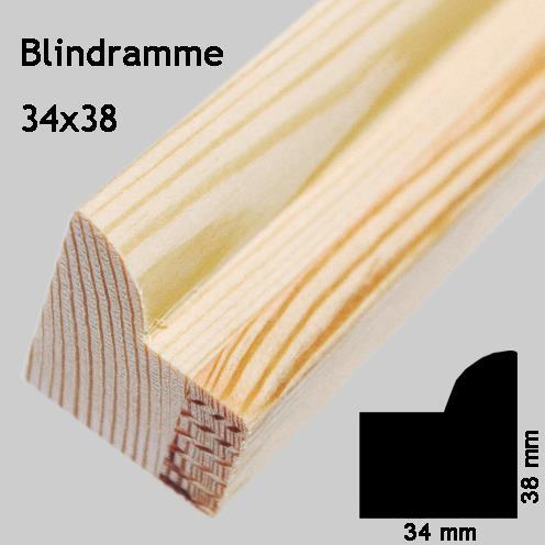 Blindramme 34x38 mm