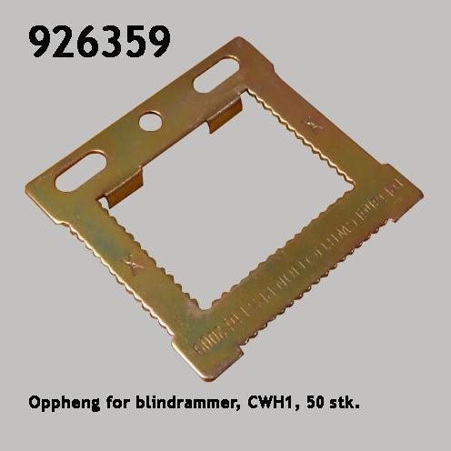 Oppheng for blindrammer