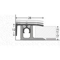 Avslutningslist Profi-Tec 12-17,5 mm 2700 mm alu silver