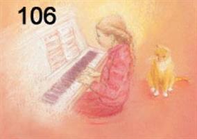 Pianonsoittaja kortti