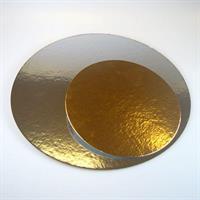 Kakebrett rund gull/sølv, 35cm 3stk FC