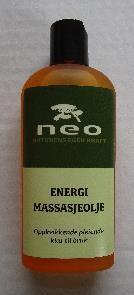 Energi massasje olje 125 ml.