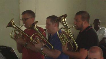 """Playing """"Ragtime for Horns"""" at Nairobi Central"""