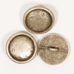 Metallknapp sølv 20 mm
