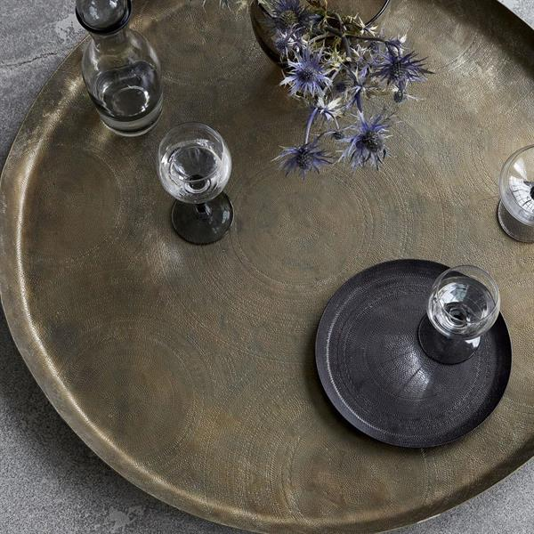 House Doctor Tray 80 cm, Jhansi, Antique brass finish