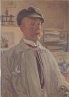 Anteckningsbok Självporträtt 1918