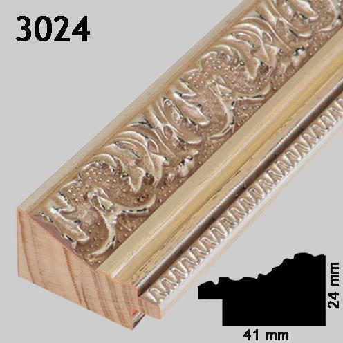 Ramme 3024 sølv ornamentert Greens