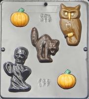 Plastform Halloween Ugle Spøkelse Gresskar