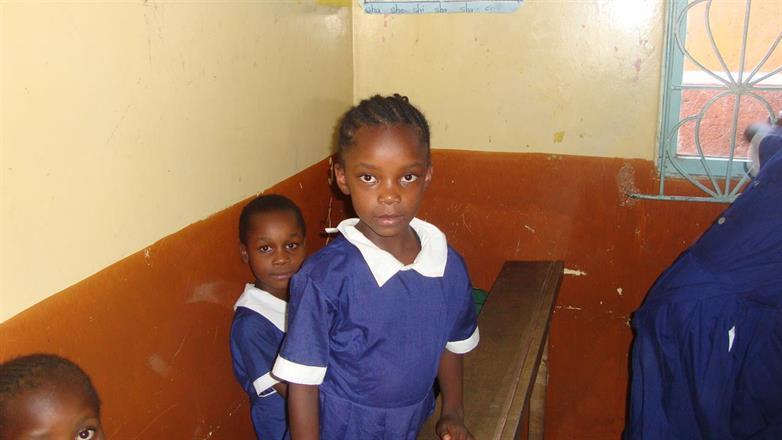 Rozyline Arivisa in her school