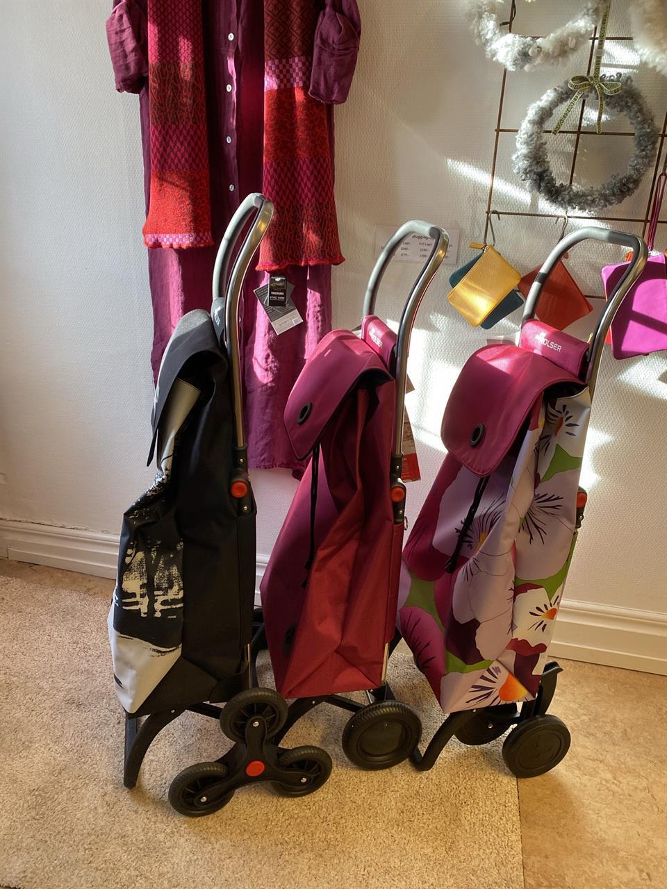 Rolser shoppingvagnar: tvåhjulig, fyrhjulig och sexhjulig trappklättrare