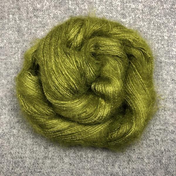 Silk Mohair Oliv