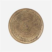 House Doctor Tray, Rattan, Brass finish