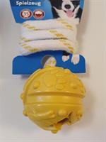 Trixie boll med snöre 4,5/35cm gul
