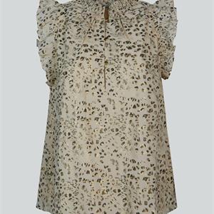Summum Woman Printed Top, Ivory