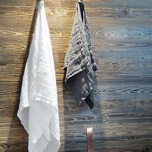 Balmuir Capri linen waffle towel, 70 x 140 cm, optical white