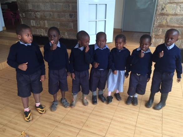 Some new sponsored students from Kibera Nursary School