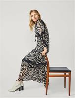 Summum Woman Dress Tiger Print, Black