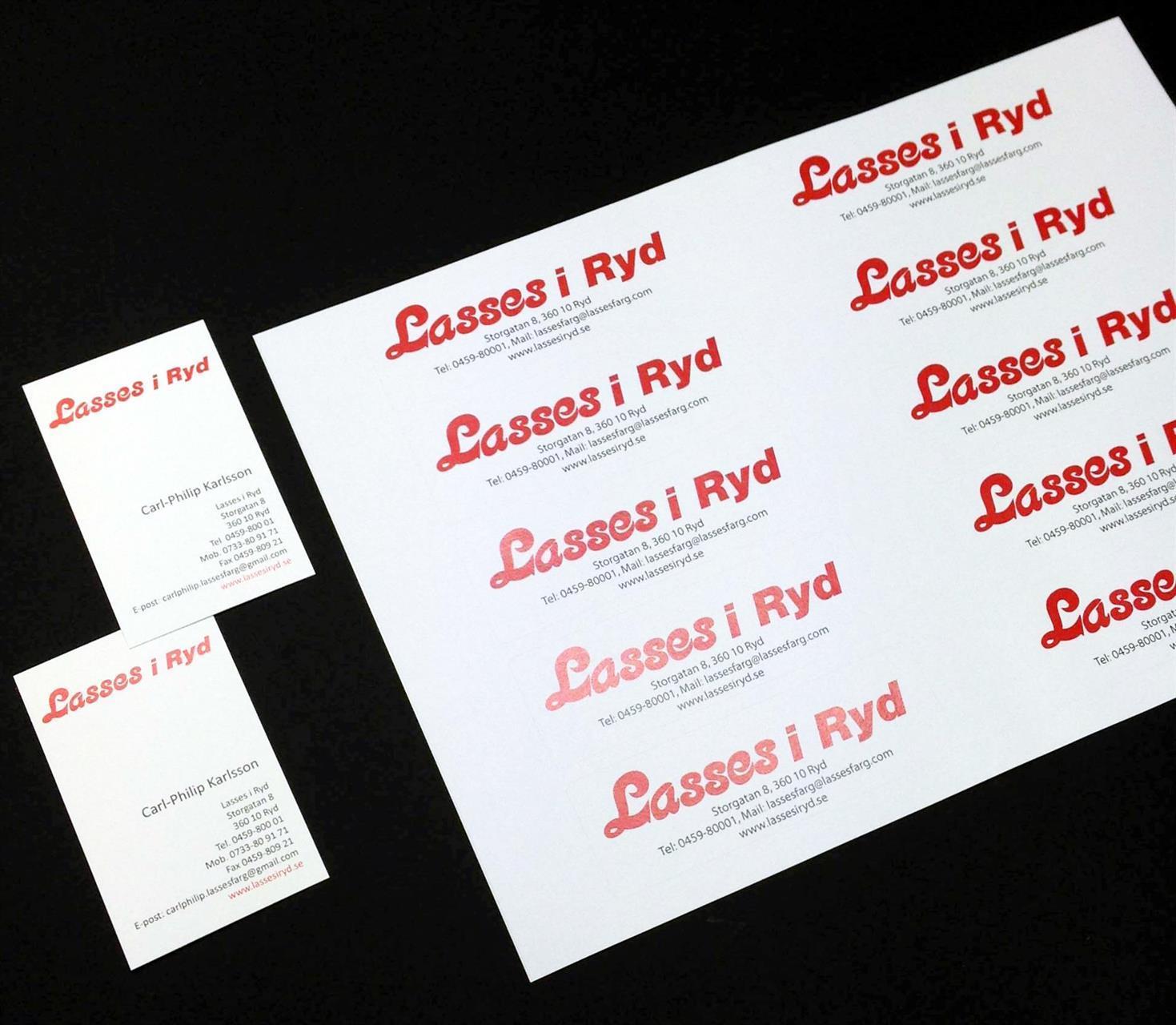 Visitkort och etiketter