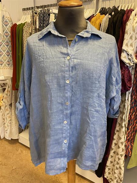 Linneskjorta Lazy jeansblå one size