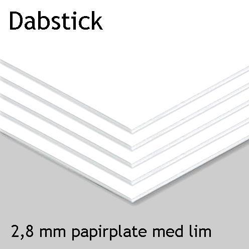 Dabstick 2,8 mm papirplate med lim