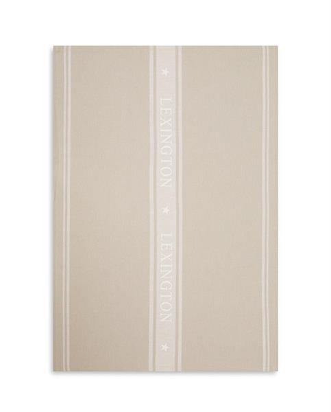 Lexington Icons Cotton Jacquard Star Kitchen Towel, Beige /White