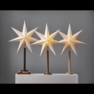 Julstjärna på fot Elice brun Star Trading