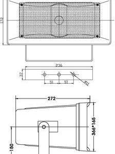 HS-50 Speaker 100V 30W OMNITRONIC (GG2)