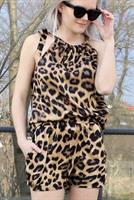 Neo Noir Ninna Leo Playsuit, Leopard