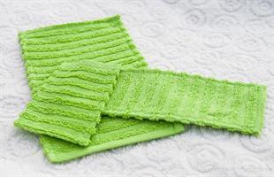3 mattor Grön bomulls frotte miniatyr