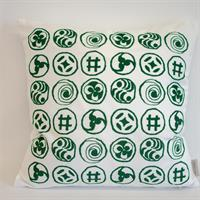 Kuddöverdrag Sammet Karins tecken grön