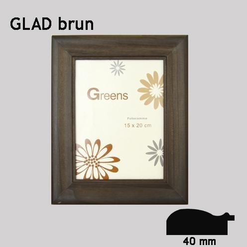 GLAD brun, standard ramme