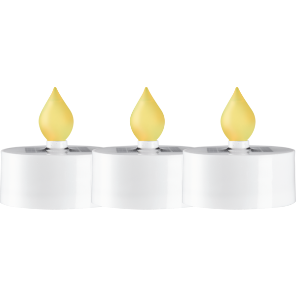 Solcell T-light candle 3-pack Star Trading