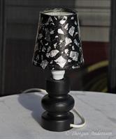 Lampskärm liten, svart och silver