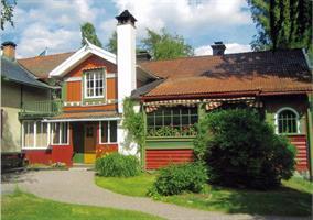 Vykort Carl Larsson-gården entré