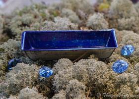 Bad-balja rak Mörk-blå miniatyr