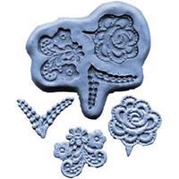 Silikonform Lace CK Flower Design