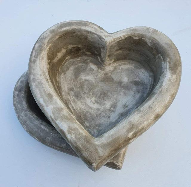 Hjärtformad kruka betong