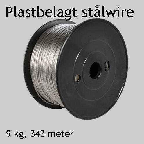 Plastbelagt stålwire